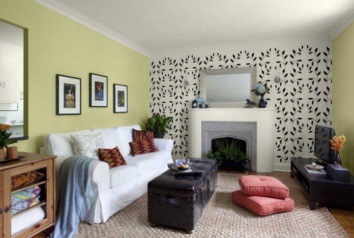 Desain Wallpaper Dinding untuk Ruang Tamu