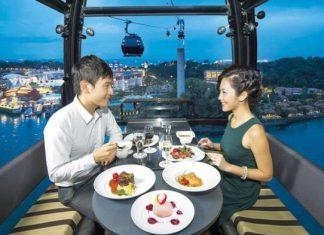 Makan Malam Romantis di Langit Singapura Ala Dining on Cloud 9