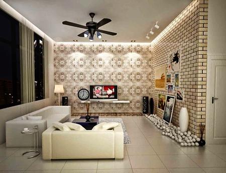 wallpeper-dinding-ruang-tamu-sempit