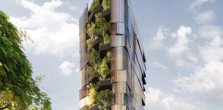 Apartemen 14 Lantai di Brisbane 'Diselimuti' Pohon