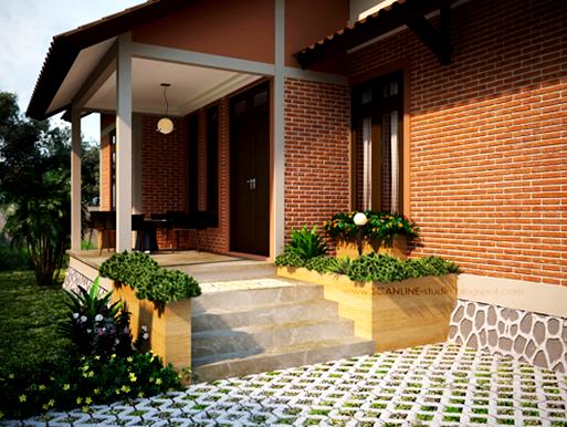 ... teras rumah dengan ekspos bata merah & Kumpulan Rumah Dengan Mengekspos Bata Merah | Blog.rumahdewi.com