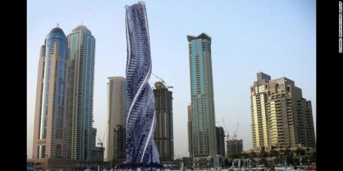 Dynamic Tower, Apartemen Yang Bisa Berputar Dengan Suara