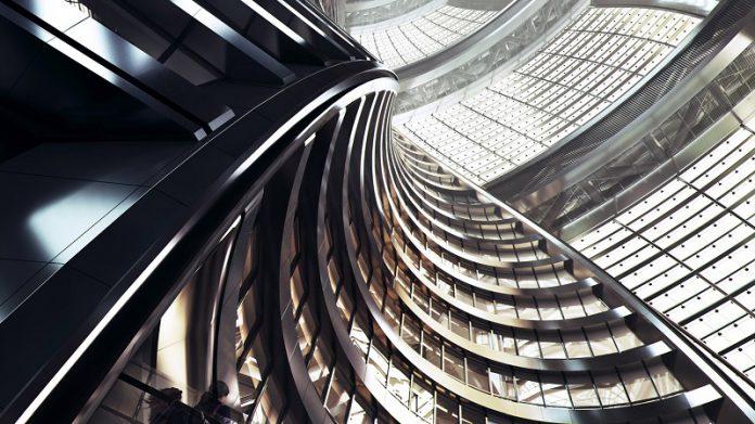 Beijing Buat Atrium Meliuk Tertinggi di Dunia