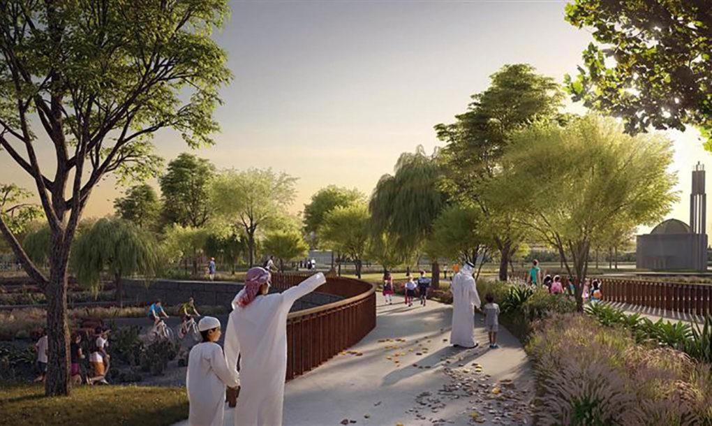 Dubai Membuat Ruang Penghijauan Luas Untuk Para Pejalan Kaki