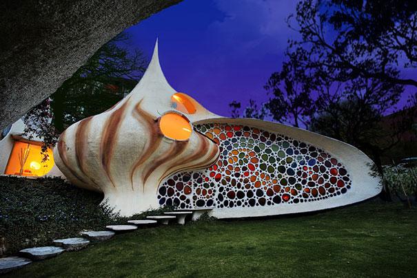 Rumah Cangkang Raksasa/Giant Seashell House, Meksiko