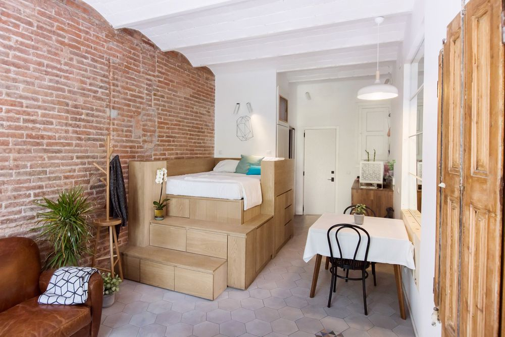 KEREN! Apartemen Kecil Ini Memilik Tempat Tidur dan Tempat Penyimpanan yang Tersembunyi