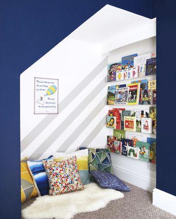 Desain Pojok Ruangan Yang Kosong Untuk Menjadi Tempat Membaca si Kecil