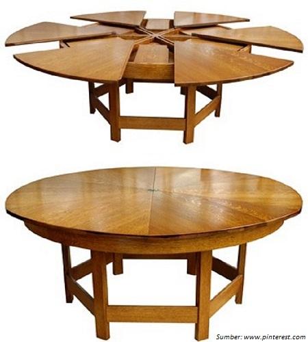 5 meja makan multifungsi yang unik dan menarik