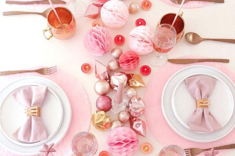 Inspirasi Dekorasi Natal Dengan Nuansa Pink Yang Indah