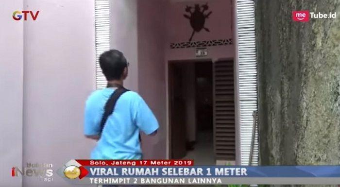 Begini Wujud Rumah Selebar 1,3 Meter yang Viral di Indonesia