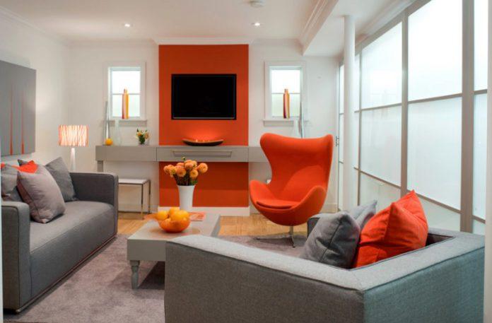 Inspirasi Dekorasi Ruangan di Rumah Dengan Warna Jingga yang Hangat