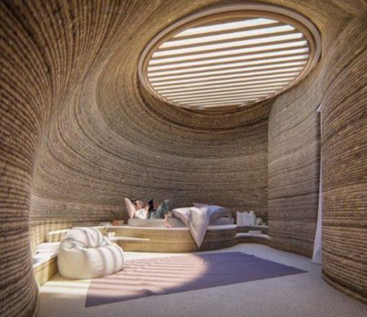 Begini Wujud Rumah Cetak 3D Dari Tanah Liat
